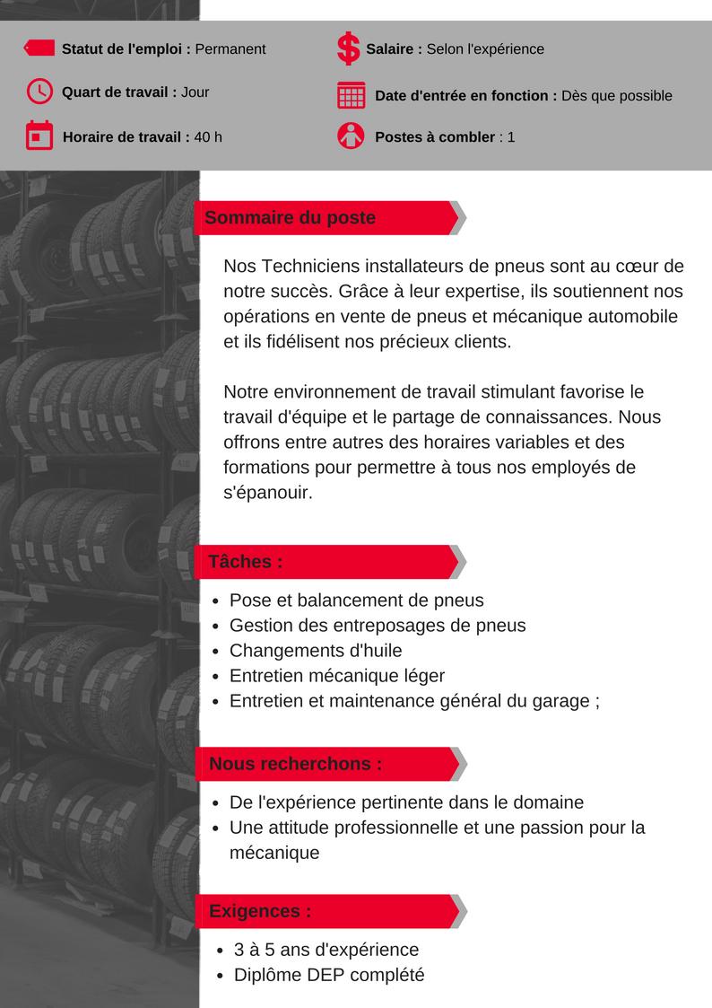 OFFRE D'EMPLOI_CLICKTIRE-Tech installateur